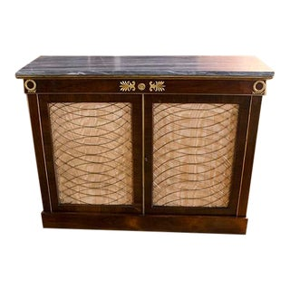 English Rosewood and Bronze Chiffonier For Sale