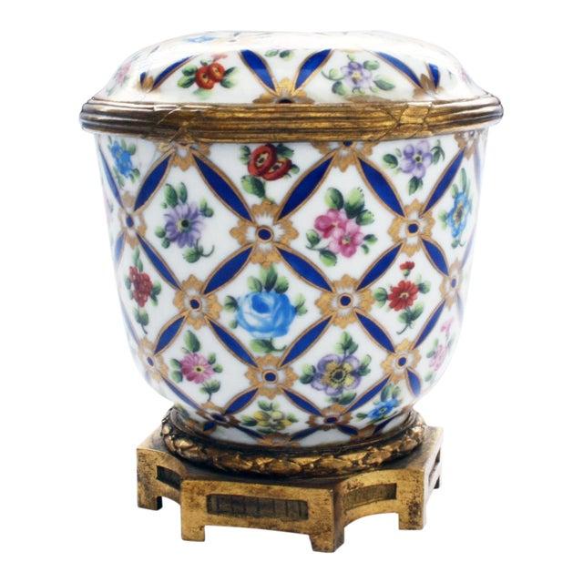 Sevres Porcelain Covered Jar with Gilt Bronze Mounts For Sale