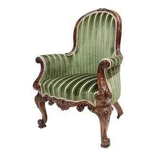 Antique English Victorian Armchair For Sale