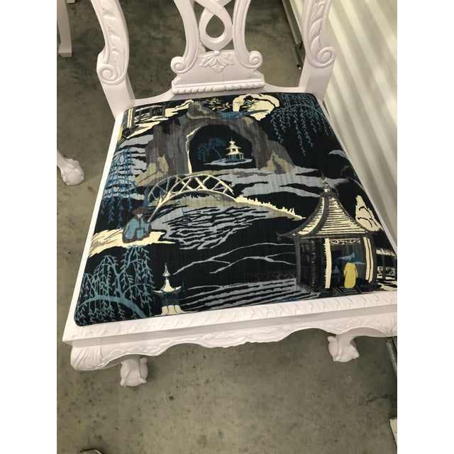 Modern Lacquered Chippendale Chairs- Set of 6 For Sale - Image 4 of 11