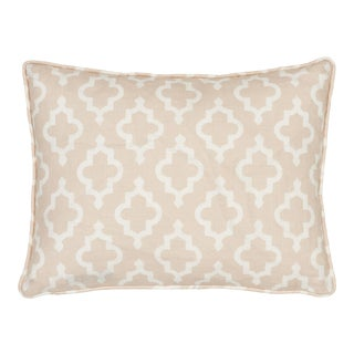 Contemporary Schumacher X Veere Grenney Jake Quiet Pink Linen Two-Sided Pillow For Sale