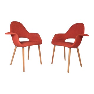 Pair of Contemporary Modern Sculpted Side Chairs For Sale