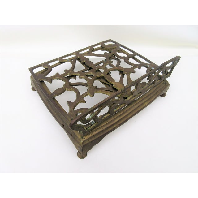 Adjustable Brass Easel Stand - Image 5 of 9