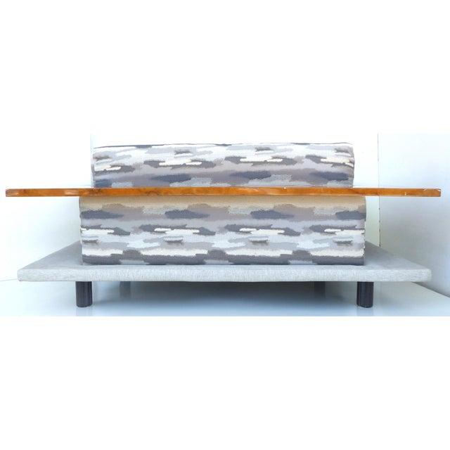 Italian Burl-Wood Upholstered Loveseat - Image 7 of 11