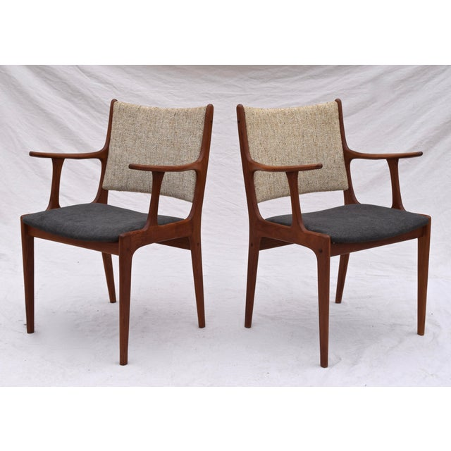 Danish Modern Danish Modern Dining Chairs by Johannes Andersen- Set of 6 For Sale - Image 3 of 11