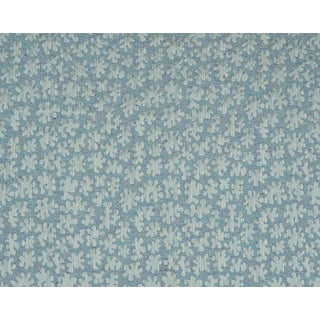 Hinson for the House of Scalamandre Joanna Fabric in Aqua For Sale