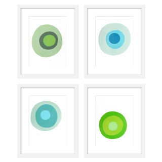 """Large """"Lucky Jade, Set of 4"""" Print by Neicy Frey, 38"""" X 50"""" For Sale"""