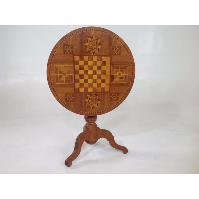Antique Dutch Marquetry Tea Table - Image 3 of 8