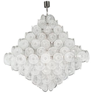 Pyramid Disc Chandelier For Sale