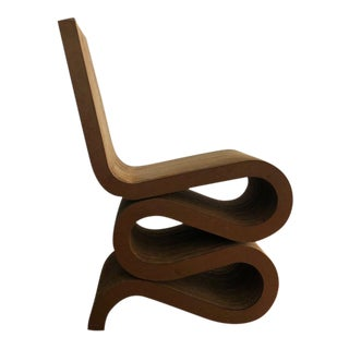 "1990s Vintage Frank Gehry ""Wiggle Chair"" For Sale"