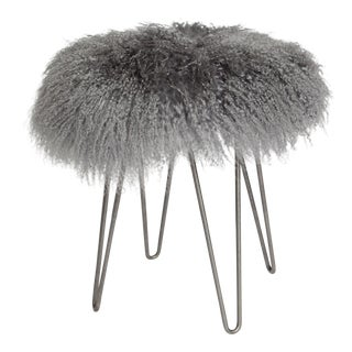 Curly Hairpin Stool Grey For Sale