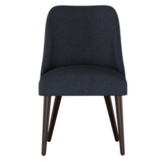Rounded Back Dining Chair in Aiden Eclipse For Sale
