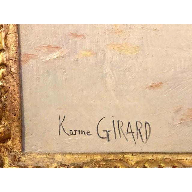 French Oil on Canvas by Karine Girard 'French 1965' or a Paris Street Scene For Sale - Image 4 of 13