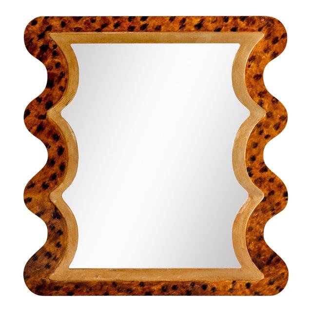 Fleur Home x Chairish Carnival Mystic Rectangle Mirror in Tortoise, 24x36 For Sale