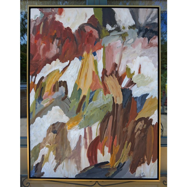 "Canvas Laurie MacMillan ""Uprising"" Abstract Botanical Painting For Sale - Image 7 of 7"