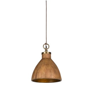Contemporary Big Sur Wooden Pendant Light Medium For Sale