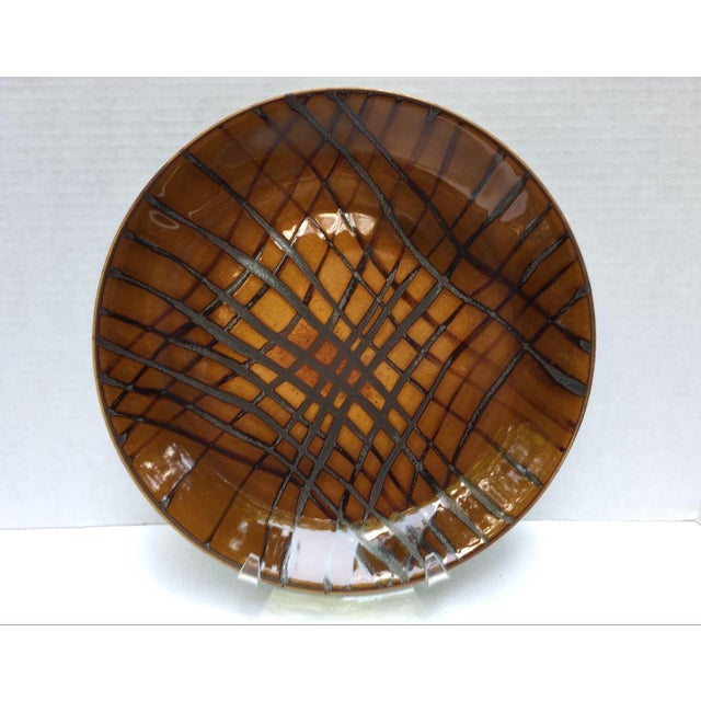 Abstract Contemporary Jaune De Chrome Dinner Plates - Set of 8 For Sale - Image 3 of 13