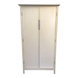 Baker Ivory Matte Lacquer Armoire