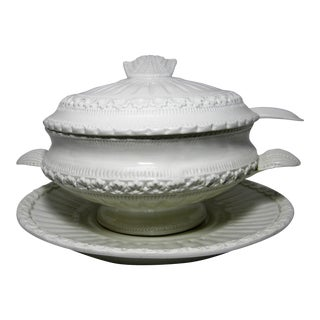 20th Century Italian Ceramic Soup Tureen - 4 Pieces For Sale