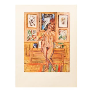 """1940s Raoul Dufy """"Nude"""", First Edition Period Swiss Lithograph For Sale"""