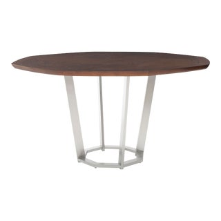 Century Furniture Paragon Club Sunburst Dining Table with Metal Base For Sale