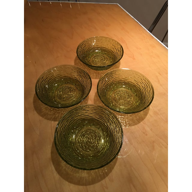 Vintage Libbey Rock Sharpe Olive Green Bowls - Set of 4 For Sale In Cincinnati - Image 6 of 7
