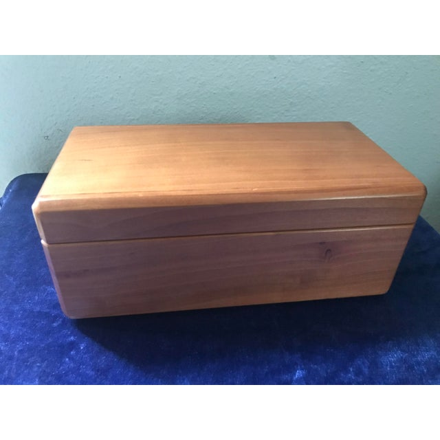 Handsome hand made wood vanity box with lift out tray. Perfect, simple look for a warm, but minimalist feel. Little wear.