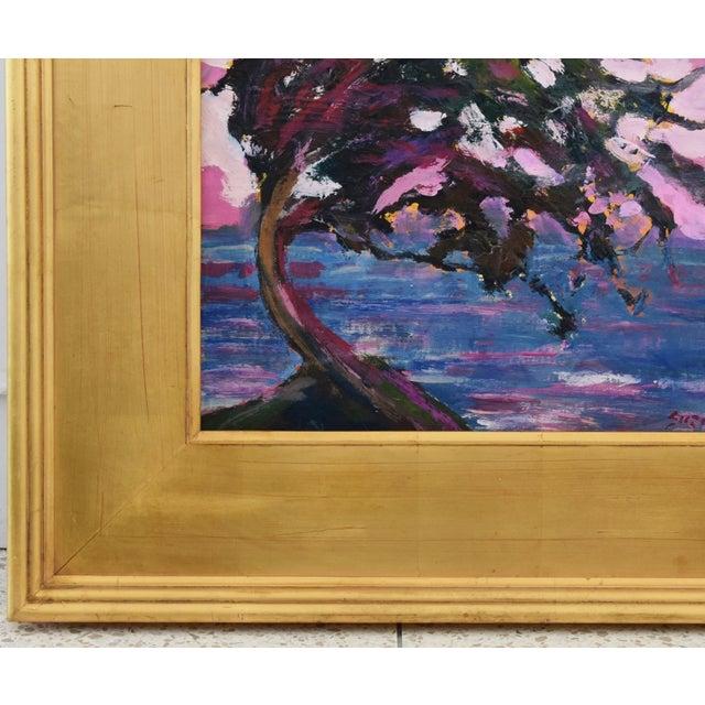 Canvas Impressionist Seascape Landscape Painting by Juan Pepe Guzman For Sale - Image 7 of 10