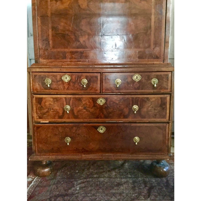 Walnut 1600's Early American William and Mary Escritoire For Sale - Image 7 of 12