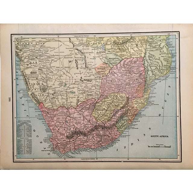 Antique Map of South Africa For Sale