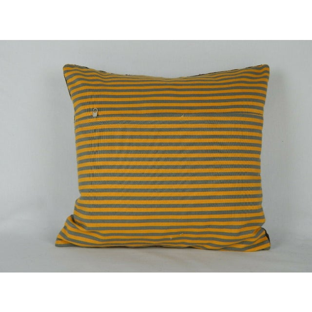 1990s Early 20th Century Uzbek Suzani Pillow For Sale - Image 5 of 6