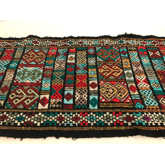 Textile Mid 20th Century Vintage Woven Table Runner Rug- 3′4″ × 1′7″ For Sale - Image 7 of 9