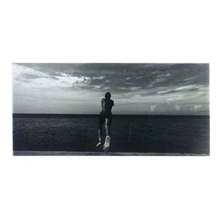 'MANUEL PIÑA - Salto' From The Series Aguas Baldías, 1992-1994 Framed Black and White Photograph For Sale