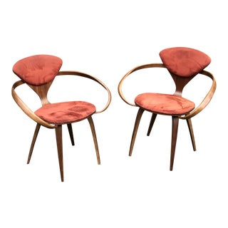 Modern Norman Cherner Dining Chairs- A Pair For Sale