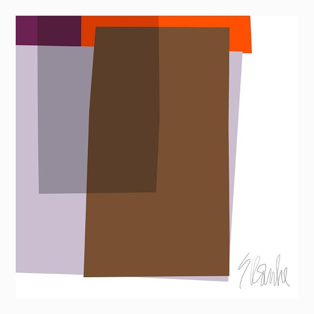 """Not Yet Made - Made To Order Purple and Orange Collage Fine Art Print 42"""" X 60"""" by Liz Roache For Sale - Image 5 of 5"""