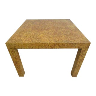 Henredon Decorator Faux Painted Coffee Table For Sale