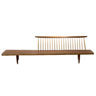1960s Mid-Century Modern George Nakashima Walnut Conoid Bench