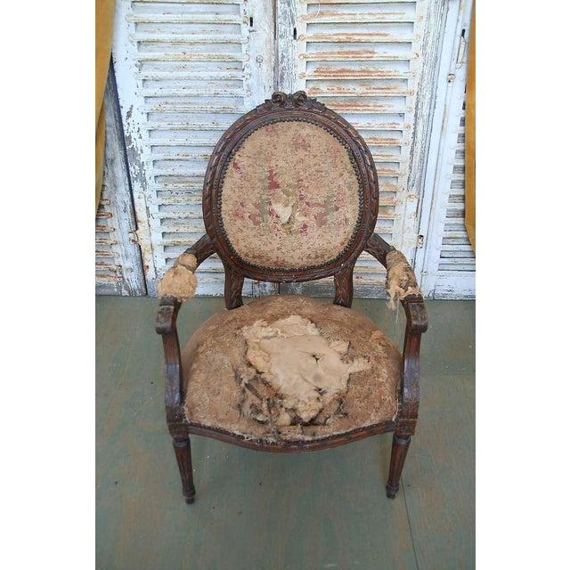 Louis XVI Style Armchair - Image 8 of 9