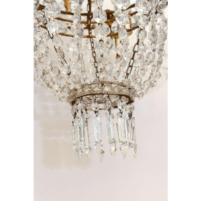 Empire Form Crystal Chandelier For Sale - Image 4 of 10