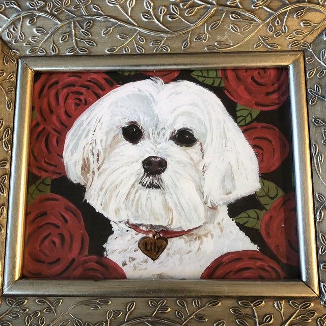 Print on paper after original painting by contemporary artist Judy Henn 8 x 10 Overall size with ornate frame is 13.5 x 15.5