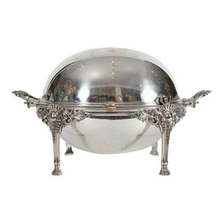 Vintage English Silver Plate Footed Tableware Server For Sale