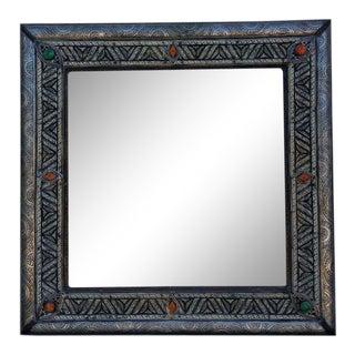 Moroccan Camel Bone Square Mirror For Sale