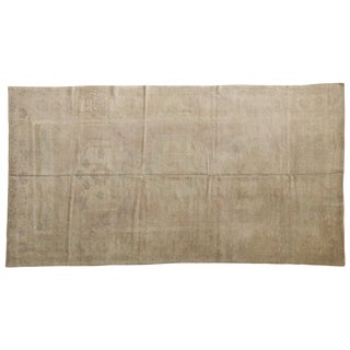 "Vintage Distressed Oushak Carpet - 4'10"" X 8'10"" For Sale"