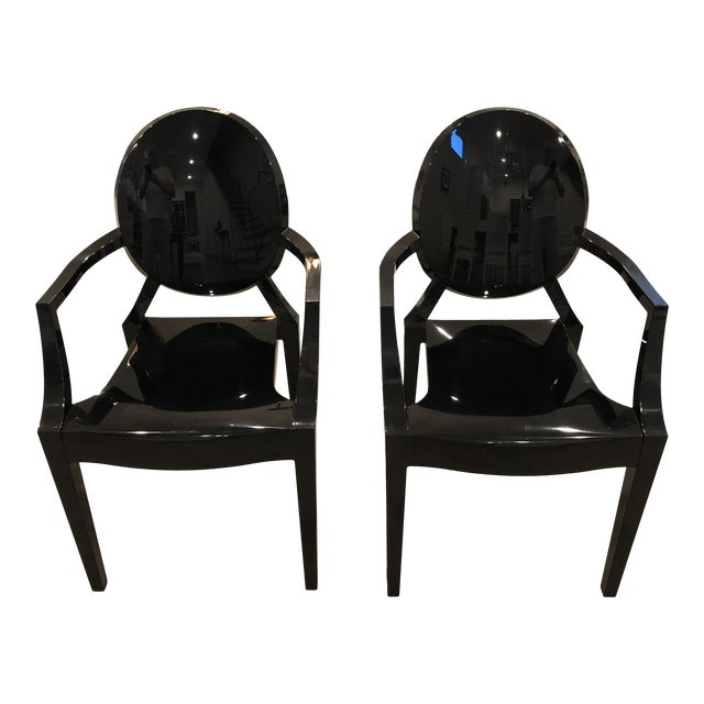 Modern Kartell Louis Ghost Chairs- Pair For Sale