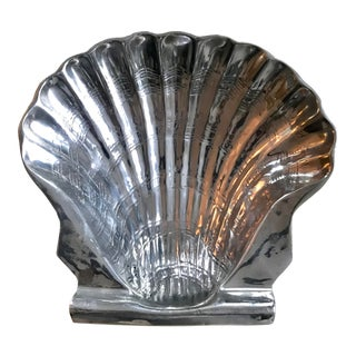 Aluminum Decorative Clam Shell Trinket Bowl For Sale