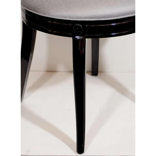 1940s Pair of 1940's Hollywood Lyre Back Occasional Chairs For Sale - Image 5 of 9
