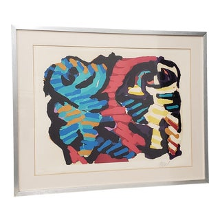 Karel Christiaan Appel (1921 - 2006) Untitled Abstract Color Lithograph For Sale