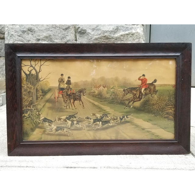 Antique English Hunting Framed Print For Sale - Image 13 of 13
