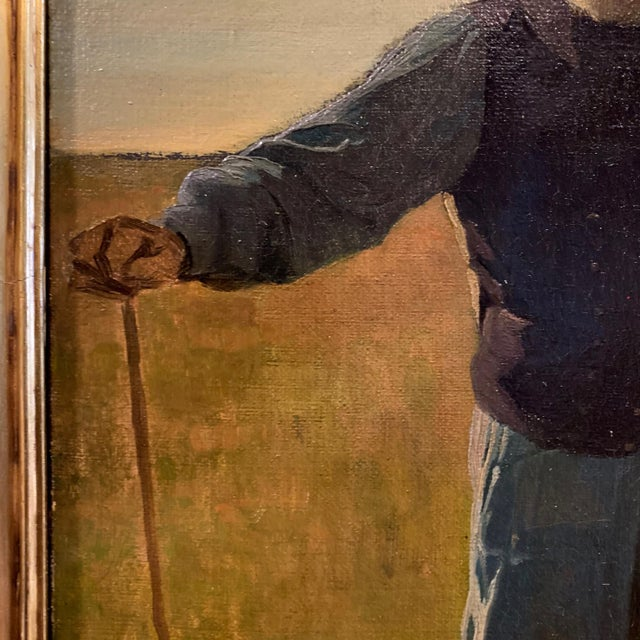 Late 19th Century Frants Henningsen (1850-1908), Portrait of a Farmer For Sale - Image 5 of 9
