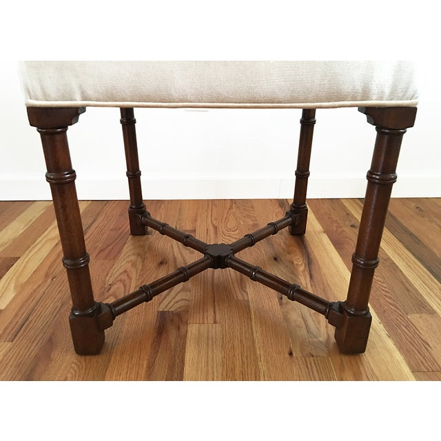 Hickory Chair Co. Upholstered Bench - Image 5 of 6